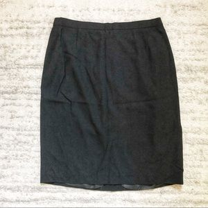 Escada Black Wool Pencil Skirt
